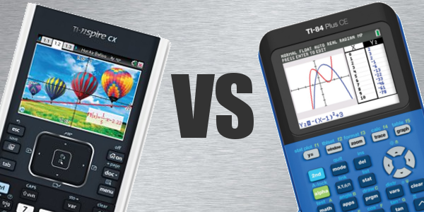 TI-84 Plus CE vs TI-Nspire CX comparison